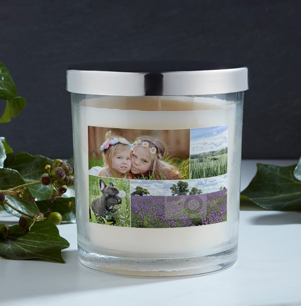 4 Photo Collage Candle