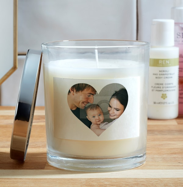 Heart Photo Candle