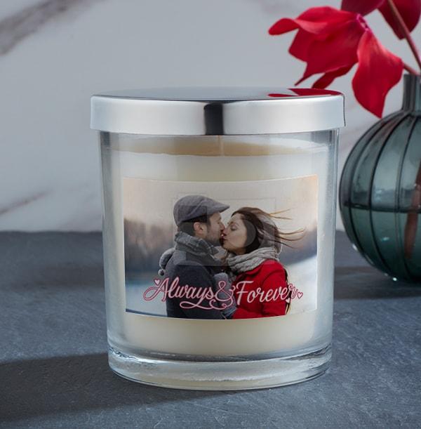 Full Photo Romantic Personalised Photo Candle
