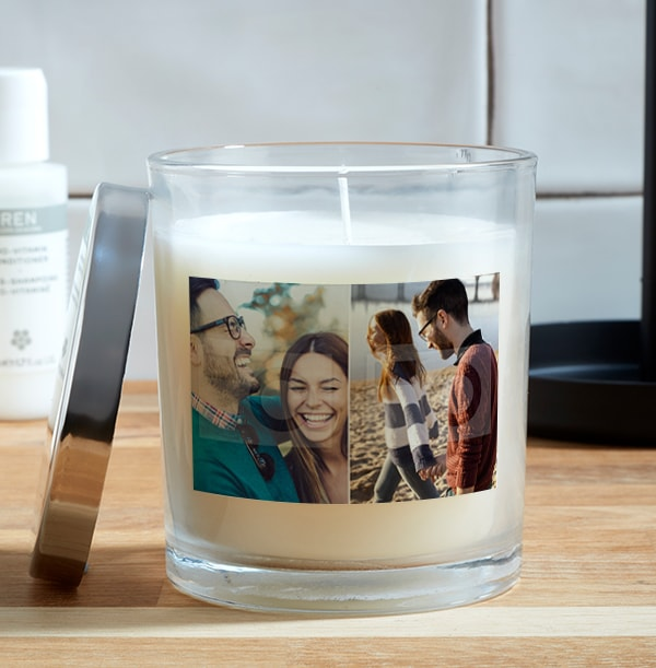 Valentine's Day Double Photo Upload Candle