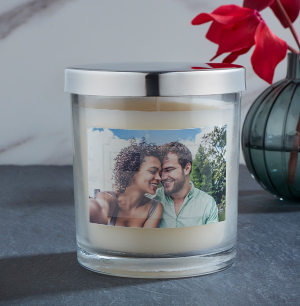 Valentine's Day Personalised Photo Candle