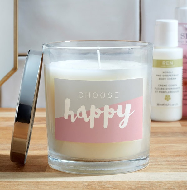 Choose Happy Personalised Candle