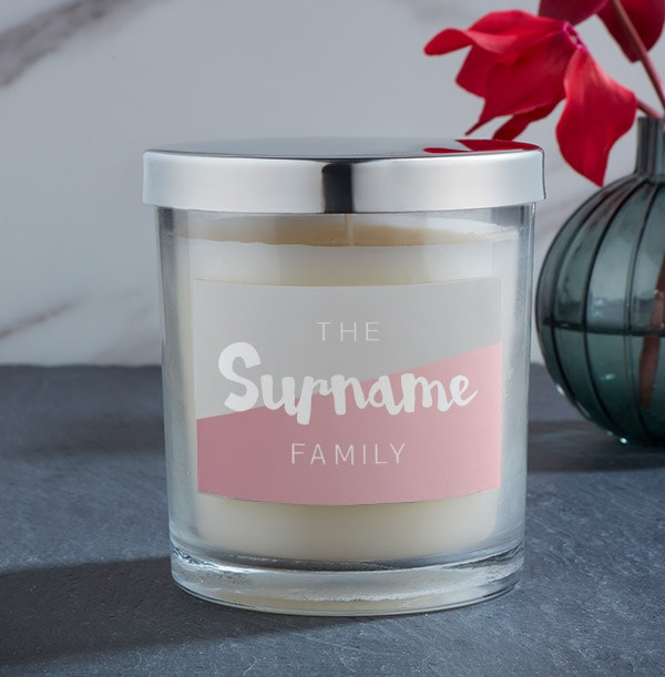 Family Personalised Candle