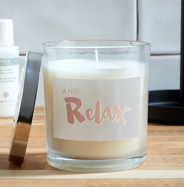 And Relax Personalised Candle