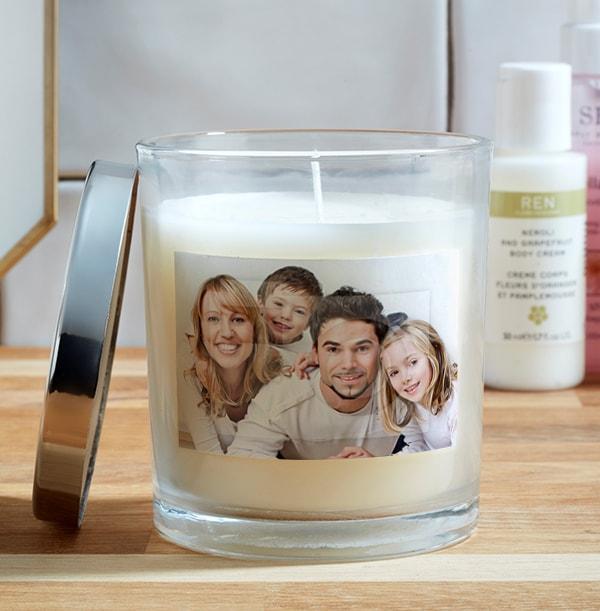 Family Photo Upload Candle