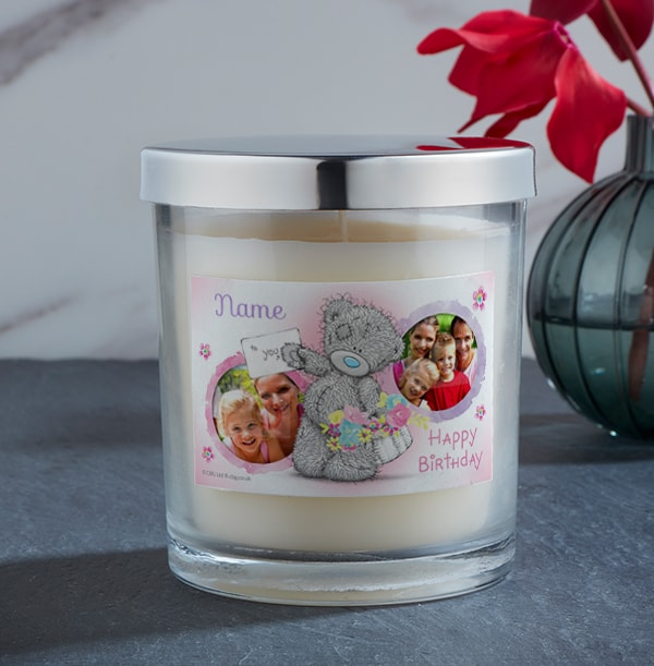 Me To You Birthday Photo Candle