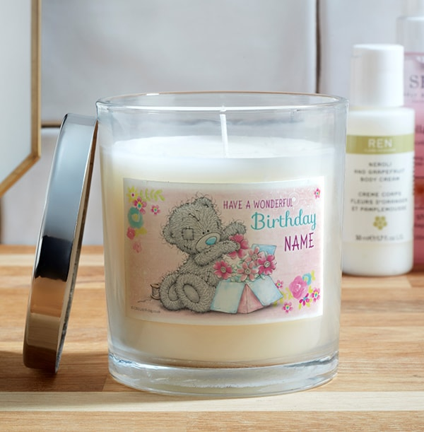 Me To You Birthday Personalised Candle