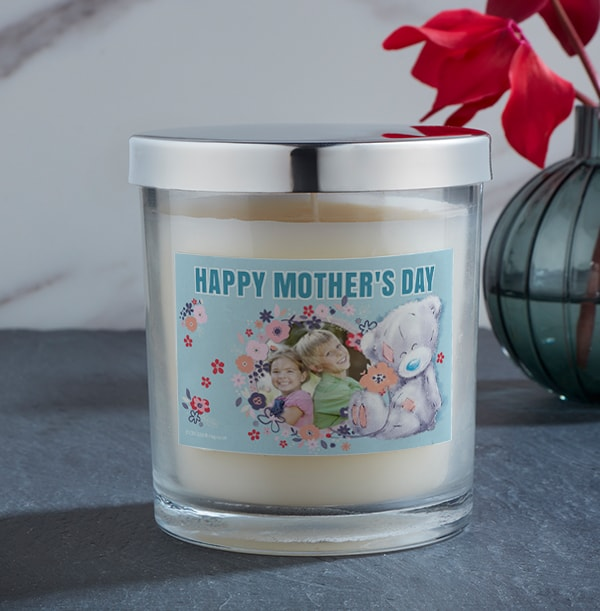 Mother's Day Blue Photo Candle - Me To You