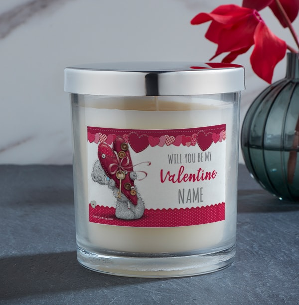 Me To You Be My Valentine Personalised Candle