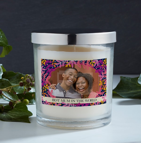 Best Mum In The World Photo Candle