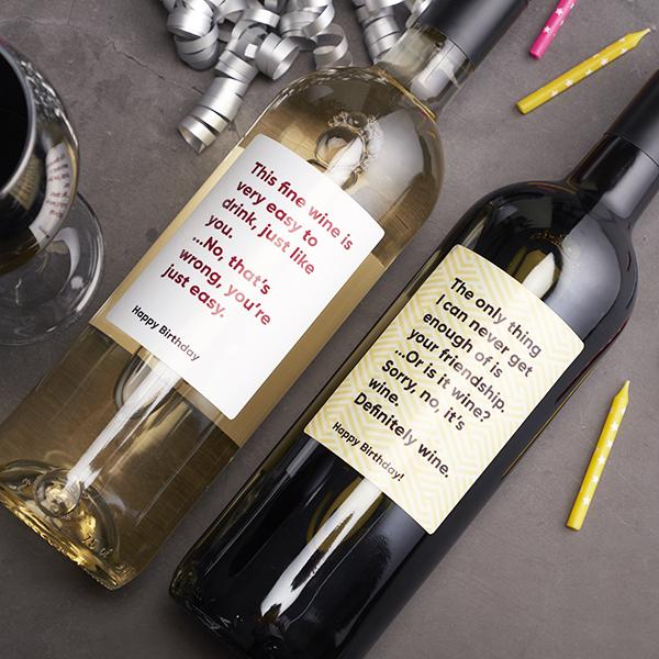 Red & White Birthday Wine Gift Set