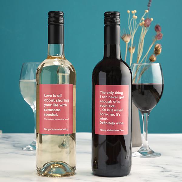 Red & White Valentines Wine Gift Set