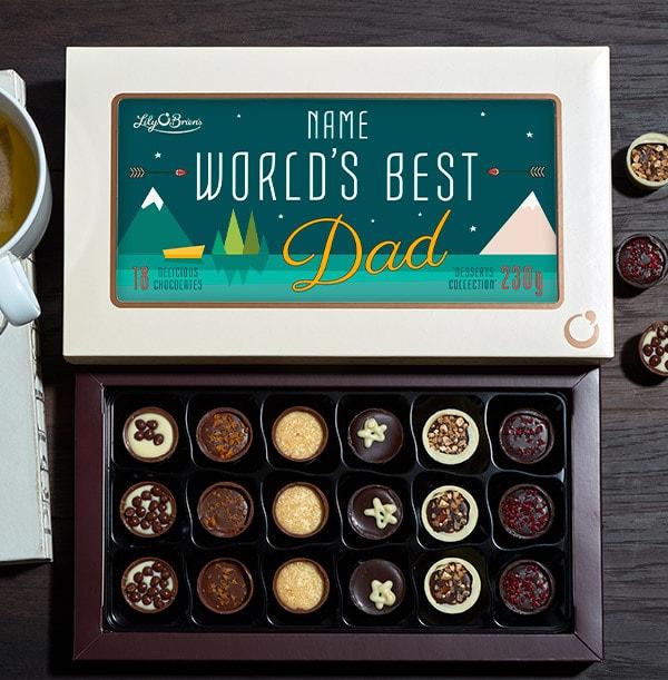 World's Best Dad Personalised Chocolates - Box of 18