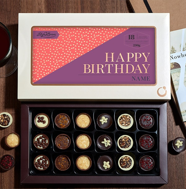 Personalised Birthday Chocolates - Box of 18