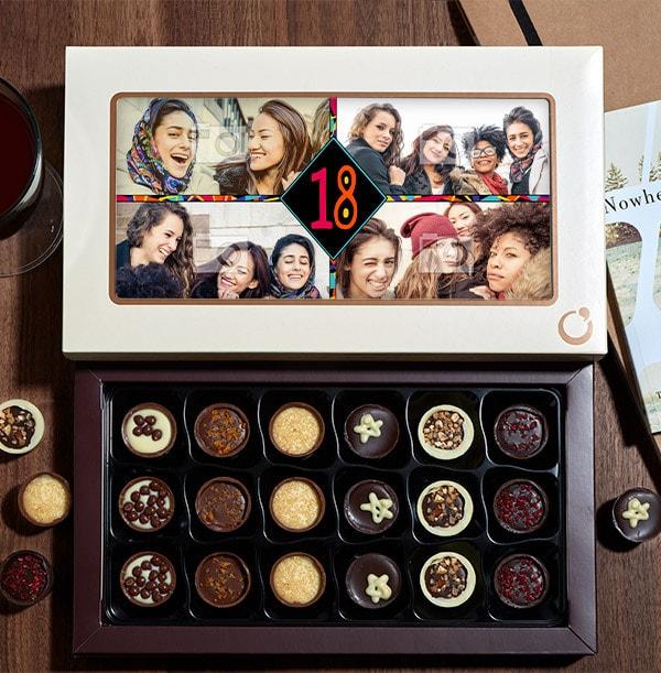 Personalised Any Age Birthday Chocolates - Box of 18