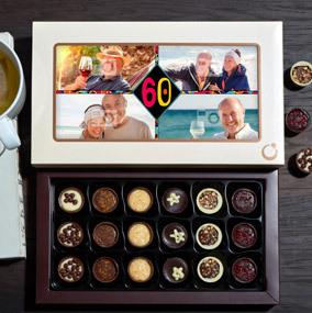 60th Birthday Photo Desserts Chocolate Box