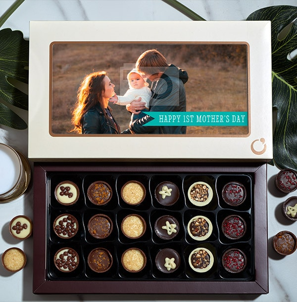 1st Mother's Day Photo Chocolates - Box of 18