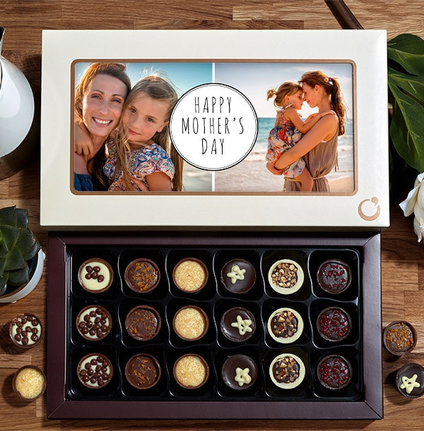 Happy Mother's Day Multi Photo Chocolates - Box of 18