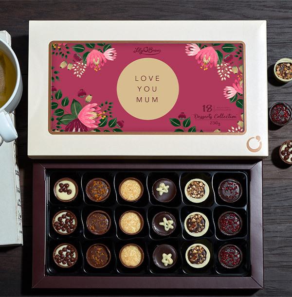 Love You Mum Personalised Chocolates - Box of 18