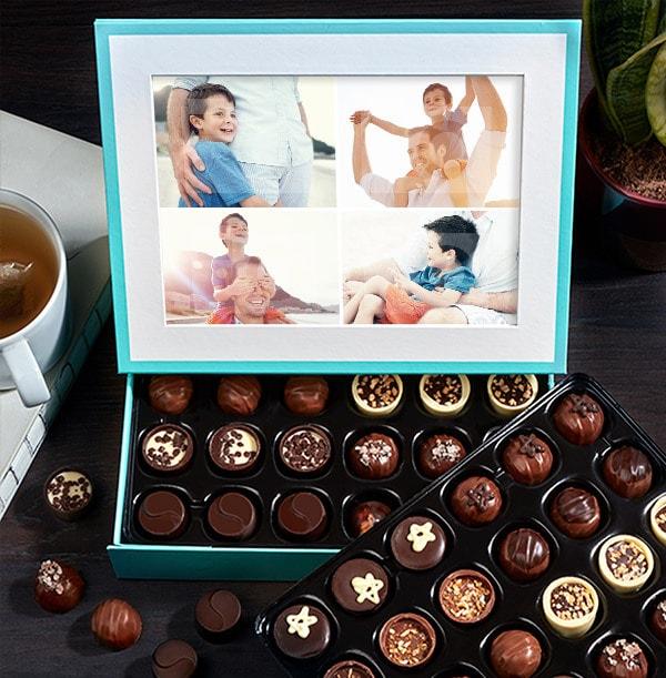 Personalised Multi Photo Chocolates - Box of 60