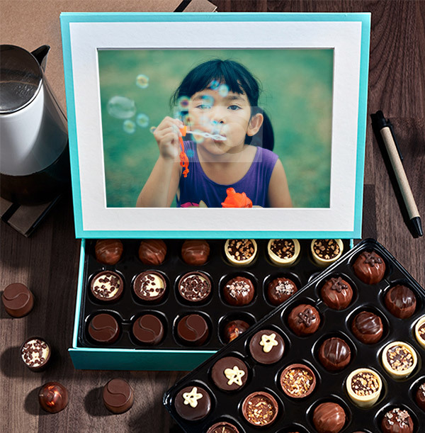 Personalised Photo Chocolates - Box of 60
