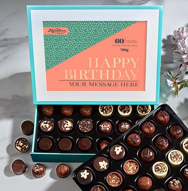 Personalised Birthday Chocolates - Box of 60