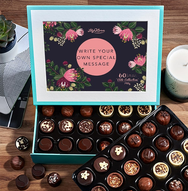 Personalised With Your Message Chocolates - Box of 60