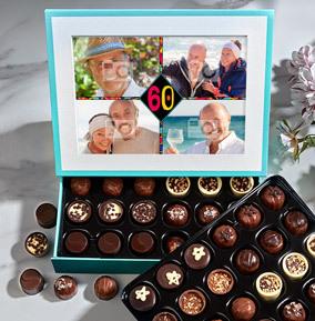 60th Birthday Elite Photo Chocolates