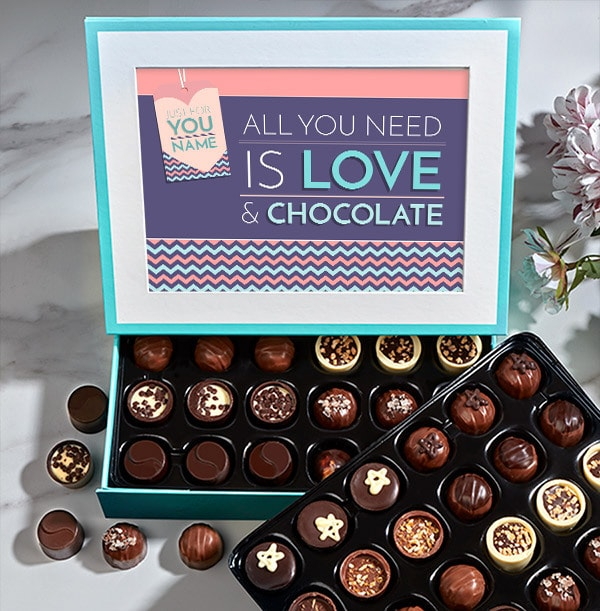 Personalised All You Need Is Love Chocolates - Box of 60