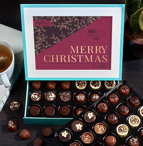 Personalised Christmas Chocolates - Box of 60