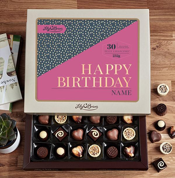 Personalised Birthday Chocolates - Box of 30