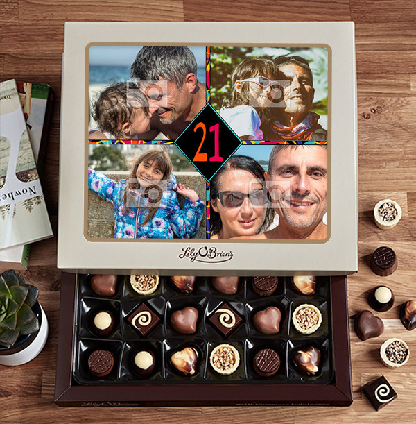 Personalised Any Age Birthday Chocolates - Box of 30