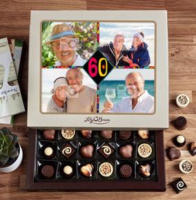 60th Birthday Multi Photo Chocolates