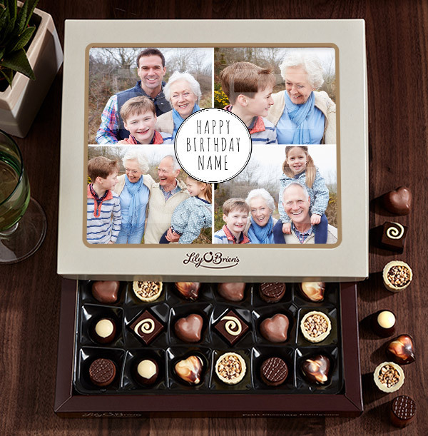 Personalised Birthday Photo Chocolates - Box of 30