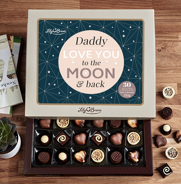 Daddy To The Moon Personalised Chocolates - Box of 30