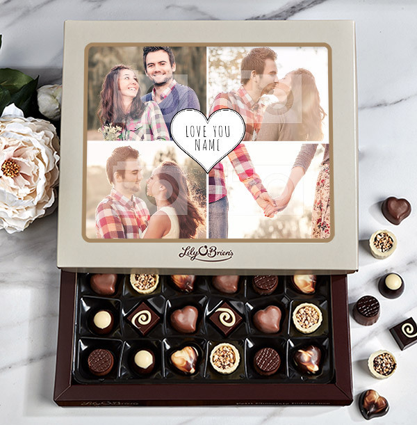 Personalised Love You Photo Chocolates -Box of 30