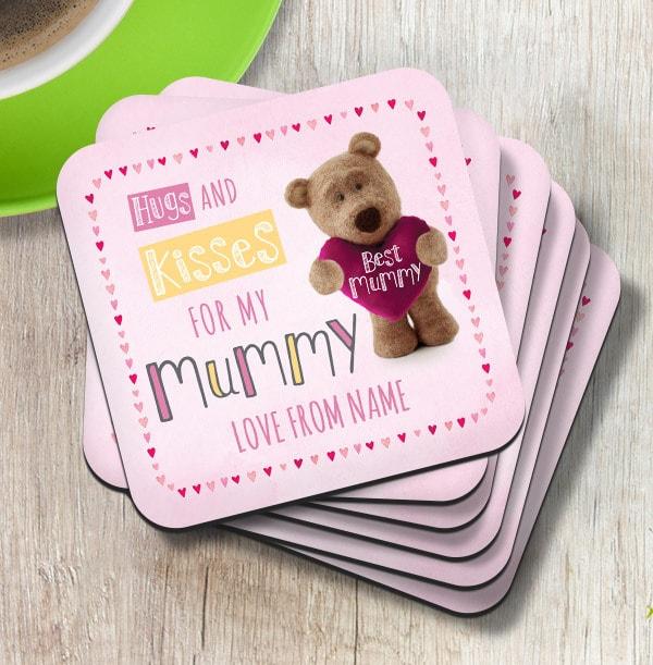 Mummy Barley Bear Personalised Coaster