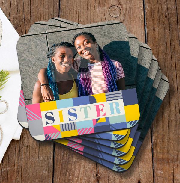 Sister Birthday Photo Coaster