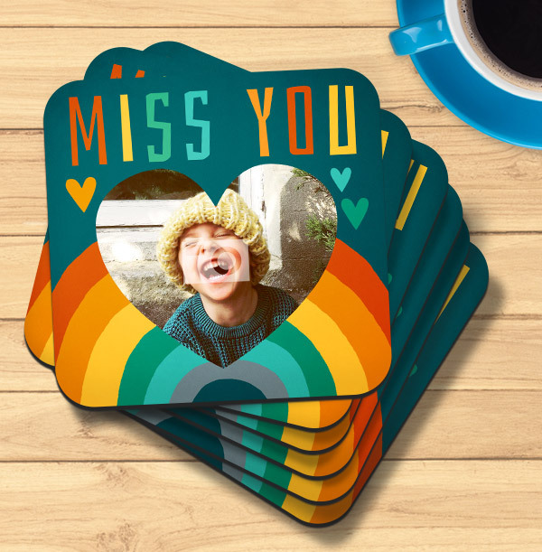 Miss You Photo Coaster
