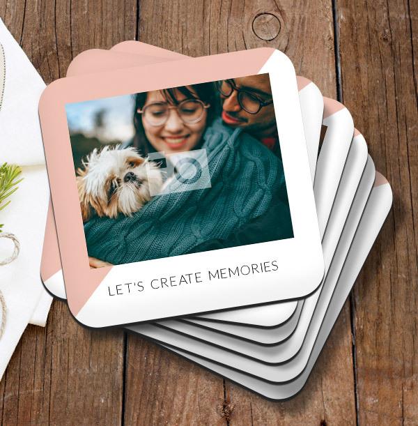 Let's Create Memories Photo Coaster