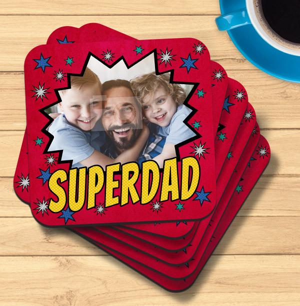 Super Dad Photo Coaster