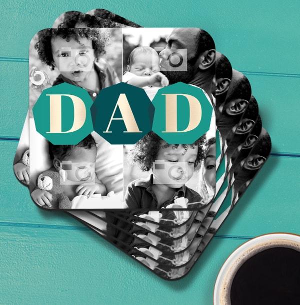 DAD Multi Photo Coaster