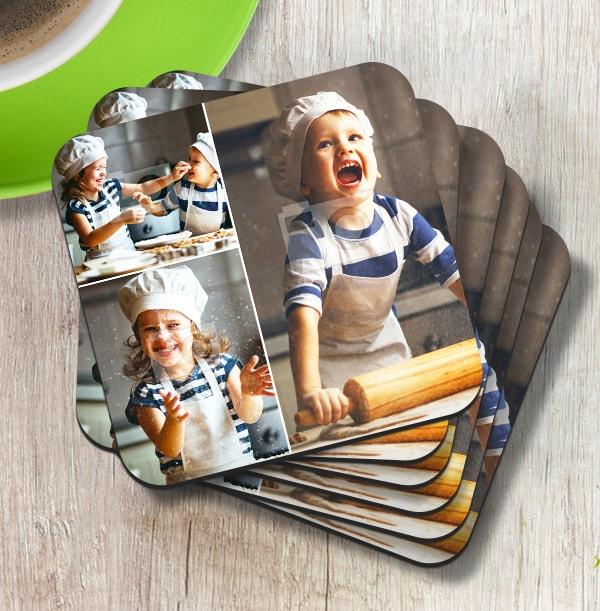 Coaster with 3 Photos