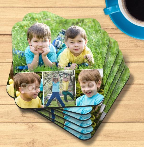 Coaster with 4 Photos