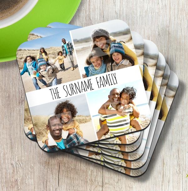 Coaster with 4 Photos & Text