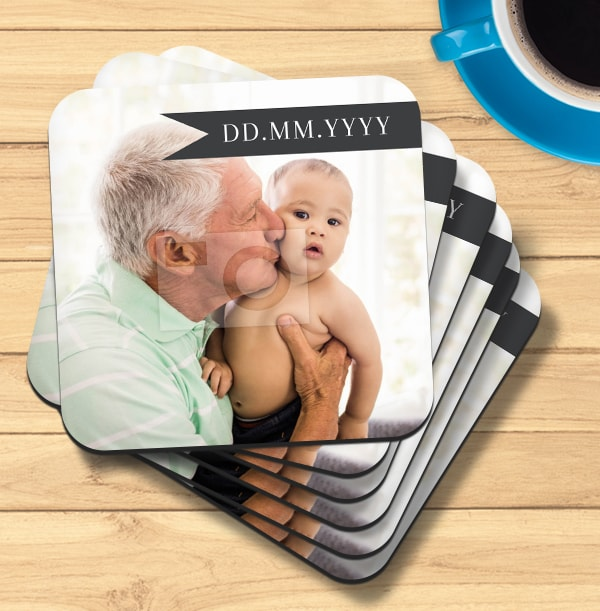 Date Banner Photo Coaster
