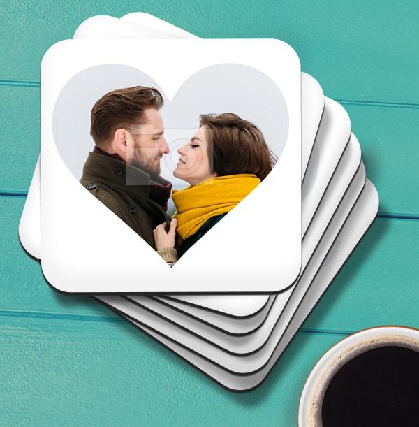 Heart Shaped Photo Coaster