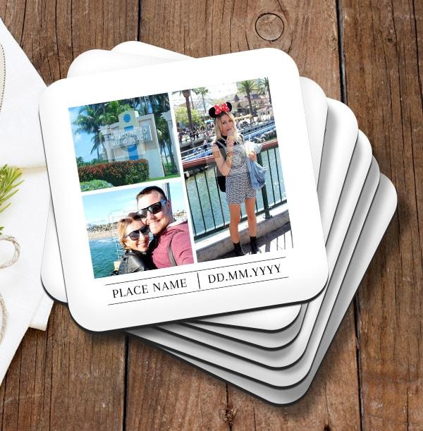 Travel Memory Photo Coaster