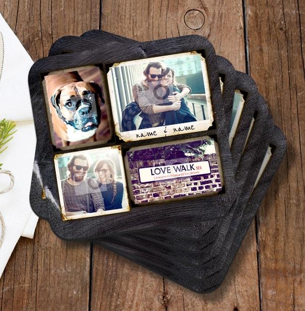 4 Polariod Photo Memory Coaster