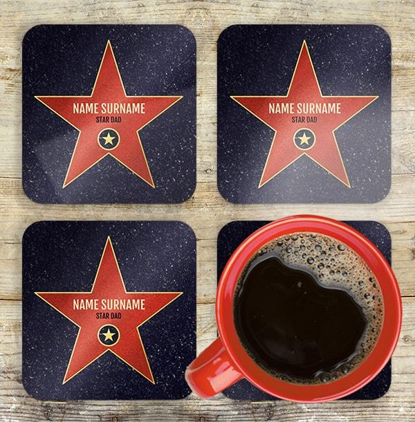 Hollywood Walk of Fame Personalised Coaster